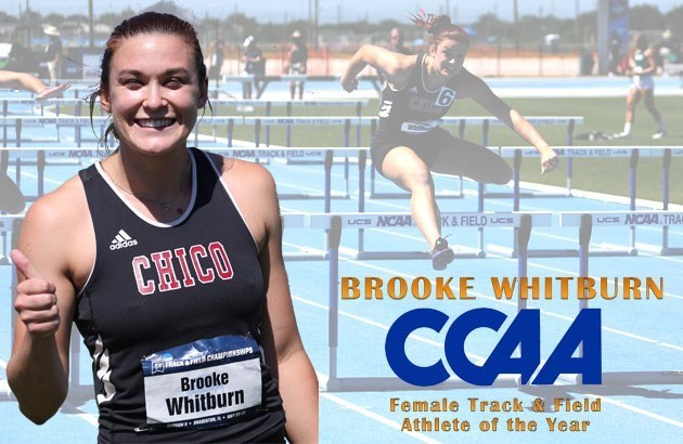 2016 CCAA Female Track & Field Athlete of the Year Brooke Whitburn.